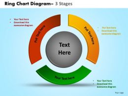 Ring Chart Diagram 3 Stages Powerpoint Slides And Ppt Templates 0412
