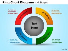 Ring Chart Diagram 4 Stages Powerpoint Slides And Ppt Templates 0412