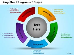 Ring Chart Diagram 5 Stages Powerpoint Slides And Ppt Templates 0412