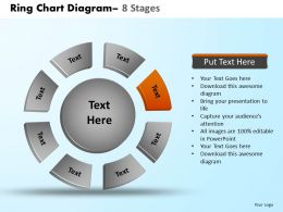 Ring Chart Diagram 8 Stages Powerpoint Slides And Ppt Templates 0412