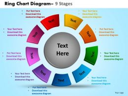 Ring Chart Diagram 9 Stages Powerpoint Slides And Ppt Templates 0412