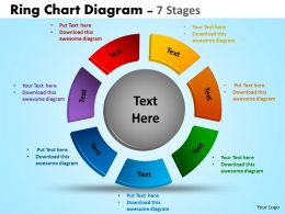 Ring Chart Diagram process Ppt Templates 8