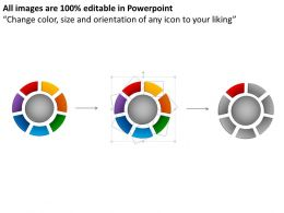 10851650 Style Cluster Surround 7 Piece Powerpoint Template Diagram Graphic Slide