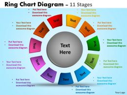 Ring Chart Diagrams Ppt Templates 4