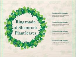 Ring Made Of Shamrock Plant Leaves