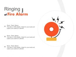 Ringing Icon Of Fire Alarm