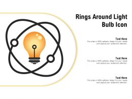 Rings Around Light Bulb Icon