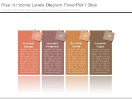Rise In Income Levels Diagram Powerpoint Slide