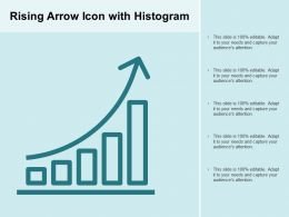 Rising Arrow Icon With Histogram