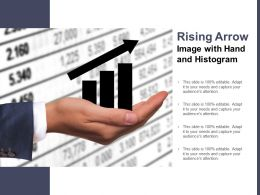 Rising Arrow Image With Hand And Histogram