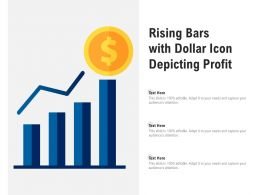 Rising Bars With Dollar Icon Depicting Profit