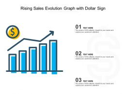 Rising Sales Evolution Graph With Dollar Sign