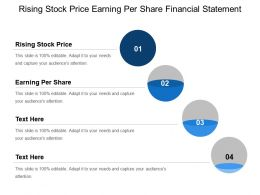 Rising Stock Price Earning Per Share Financial Statement
