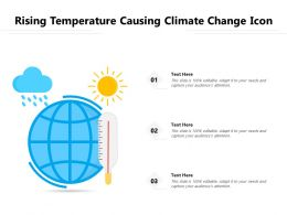 Rising Temperature Causing Climate Change Icon