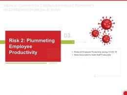 Risk 2 Plummeting Employee Productivity Ppt Powerpoint Presentation