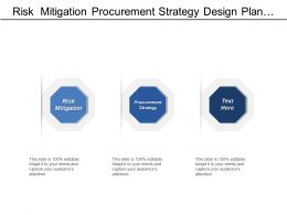 Risk  Mitigation Procurement Strategy Design Plan Project Controls