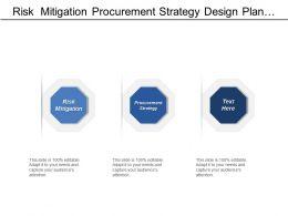 Risk  Mitigation Procurement Strategy Design Plan Project Controls