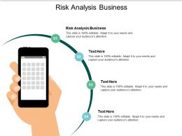 Risk Analysis Business Ppt Powerpoint Presentation Styles Slide Cpb