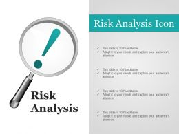 Risk Analysis Icon Ppt Background Graphics