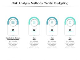 Risk Analysis Methods Capital Budgeting Ppt Powerpoint Presentation Graphics Cpb