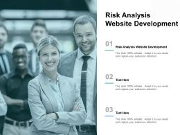 Risk Analysis Website Development Ppt Powerpoint Presentation Show Rules