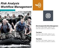Risk Analysis Workflow Management Ppt Powerpoint Presentation Gallery Layout Ideas Cpb