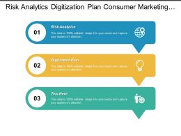 Risk Analytics Digitization Plan Consumer Marketing Marketin Sales Cpb