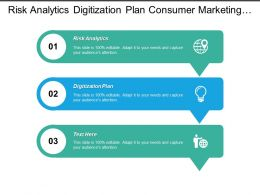 Risk Analytics Digitization Plan Consumer Marketing Marketing Sales Cpb
