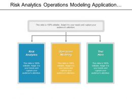 Risk Analytics Operations Modeling Application Development Organizational Structure Cpb