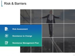 Risk And Barriers Presentation Examples