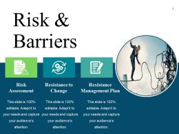 Risk And Barriers Presentation Layouts