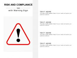 Risk And Compliance Icon With Warning Sign