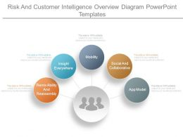 Risk And Customer Intelligence Overview Diagram Powerpoint Templates