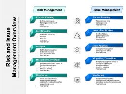 Risk And Issue Management Overview