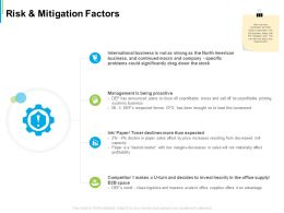 Risk And Mitigation Factors Ppt Powerpoint Presentation Ideas Design Inspiration