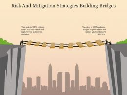 Risk And Mitigation Strategies Building Bridges Example Of Ppt