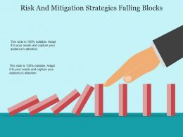 Risk And Mitigation Strategies Falling Blocks Sample Of Ppt
