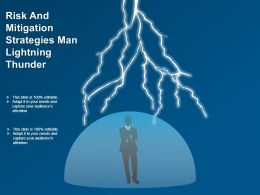 Risk And Mitigation Strategies Man Lightning Thunder Good Ppt Example