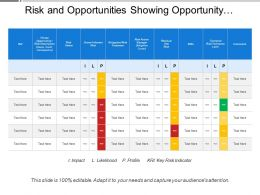Risk And Opportunities Showing Opportunity Risk Description With Risk Treatment