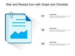 Risk And Reward Icon With Graph And Checklist
