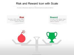 Risk And Reward Icon With Scale
