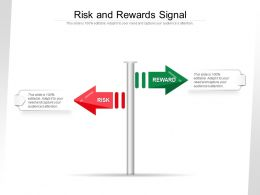 Risk And Rewards Signal