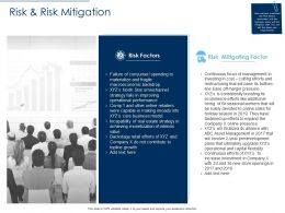 Risk And Risk Mitigation Factor Ppt Powerpoint Presentation Pictures Template