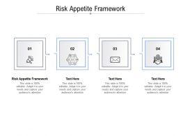 Risk Appetite Framework Ppt Powerpoint Presentation Slides Graphics Example Cpb