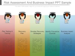 Risk Assessment And Business Impact Ppt Sample