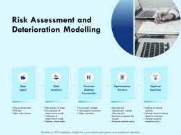 Risk Assessment And Deterioration Modelling Constraints Powerpoint Presentation Portrait