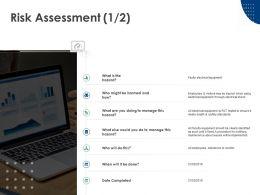 Risk Assessment Calendar Checklist Ppt Powerpoint Presentation Icon Slide Download