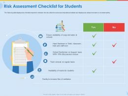 Risk Assessment Checklist For Students Ventilation Flow Ppt Presentation Rules