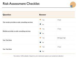 Risk Assessment Checklist Ppt Powerpoint Presentation Icon Design Inspiration