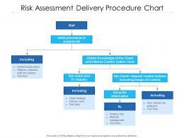 Risk Assessment Delivery Procedure Chart